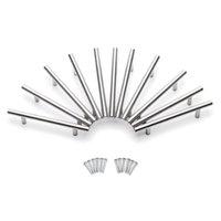 15.00 Möbler Handtag Kökskåp t Dra Knappar Rostfritt stål för dörrstångshandtag 150x Förvaringslådor Bins