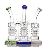Clakah Filter Bongs Рециркулируйте водяные трубы стекла бонг курительные трубы 9,8 дюймов Water Pippipe 14,5 мм совместная вышка