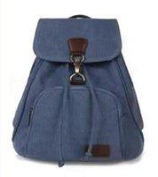 Çanta Erkekler Lady Vintage Tuval Sırt Çantası Satchel Sırt Çantası Seyahat Kamp Çantası Açık Büyük Depolama Fermuar Ucuz