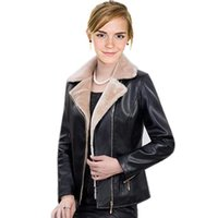 Leather Jacket Women 2021 Winter Warm Coat Female Velvet Biker Jackets Womens Clothing Femme Veste Abrigo Mujer Black Red Women's & Faux