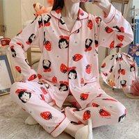 출산 의류 수유 긴 소매 잠옷 봄과 가을 시즌 정장 대형 임신 한 여성들이 가정용 옷을 먹이는 동안