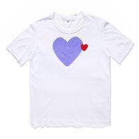 Klasik Oyun Unisex T-shirt # C022 Yaz Kısa Kollu Moda Tees Harajuku Lüks Stilist Kalp Desen Erkek Kadın Tasarımcılar CDG Casual Hip-Hop Tops