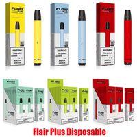 New Flair Plus Disposable E-cigarettes Device Kit 800 Puffs 550mAh Battery 3.5ml Pre-filled Cartridge Pod Stick Vape Pen Vs Puff Bar Bang XXL