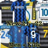 جديد 20 INTER MILAN 21 Lukaku المنزل بعيدا ثالث كرة القدم جيرسي 2020 2021 كرة القدم قميص الكبار الرجال + أطفال كيت
