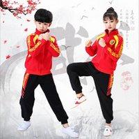 고품질의 아름다운 어린이 무술 착용 Wushu 연습 의류 성능 정장 레드 키즈 Kungfu Martials Artss 유니폼 체육관