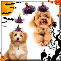 Dog Apparel 10Pcs Halloween Accessories Pet Pumpkin Wizard Hat Holiday Party Dogs Cat Cap Costume For Chihuahua Products
