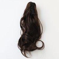 Garra clipe rabo de cavalo culry ondulado extensões de cabelo sintético mulheres moda