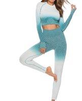 Kadınlar Kadın Yoga Kıyafet Setleri Egzersiz Spor Gym Giyim Spor Eşofman Atletik Activewear Tayt Koşu Spor Takımları 05