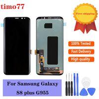 Paneles táctiles de teléfono celular original para Samsung Galaxy S8 Plus LCD G955 G955F G955A G955FD G955P G955S G950F G950A Pantalla de pantalla digitalizador Reemplazo