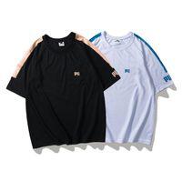 Мужская дизайнер футболка мода стрит одежды Tee Tops мужчины повседневная пуловер футболка черные белые спортивные рубашки S-XXL