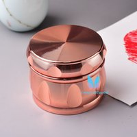 Mode ROSE GOLD 4-Lagen Zinklegierung Metall Kräuterkraut Tabak Grinder Crusher