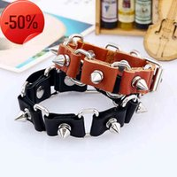 2020 New Vintage Leather Bracelet Hip Hop Punk Star Charm s for Women Fashion Jewelry Accessories