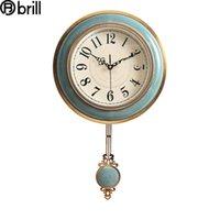 Pendule de luxe Horloge Home Decor Décor Creative Horloges Grand Salon Salon Metal Reloj de pared oscillable Style antique