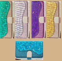 Cajas de teléfono de cuero con láser de brillo con paquete de tarjeta para iPhone 12 11 Pro Promax X XS MAX 7 8 PLUS SAMSUNG S10 S20 NOTA10 NOTA20