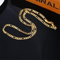 Gold Silver Color Necklaces For Men 4mm 16-30inch Long Chain Figaro Necklace Collier Femme Wedding Bridal Jewelry Accessories Chains