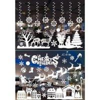 Pegatinas de la pared Ventana de Navidad Clings Copular de nieve Reno de Papá Noel Santa Series Tienda Pegatina Vidrio
