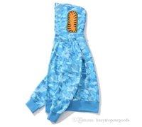Herren Shark Hoodies Stickerei Teenager blau Rosa CAM Flug Männliche Flut Hoodie Männer Paare Kapuzenjacken S-3XL