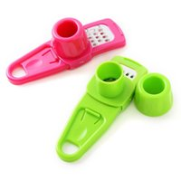 Multi Functional Ginger Garlic Grinding Grater Planer Slicer Cutter Cooking Tool Utensils Kitchen Accessories 2 Colors RRD6865