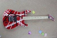 @ 2 العلامة التجارية الجديدة وصول الغيتار kramer 5150 سلسلة الأحمر والأبيض تريمولو الغيتار الكهربائي في المخزون