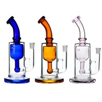 10 Inch Tall Glass Bong Hookah Big Water Pipe Percolator Dab Rigs Heavy Recycler With 4mm Quartz Banger