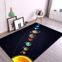 Carpets 3D Solar System Children Room Carpet Space Planet Rug For Boy Bedroom Anti-slip Mat Bathroom Home Decor Play Crawling Floor