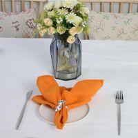 테이블 냅킨 12pcs 폴리 코 튼 패브릭 냅킨, 빨 수 및 재사용 가능한 플레이스 매트, 내구성 다채로운 천, 부엌 식사 결혼식 장식