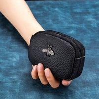 2021 جديد cicicuff النساء عملة محفظة جلد طبيعي الإناث مزدوجة سستة السفر المنظم مصغرة الحقيبة المرأة حقيبة التخزين الجدار صغير