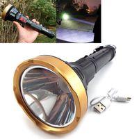 Lanternas Tochas Alta Poderosa LED Tocha USB Recarregável Longa Lâmpada Tática Lanterna Lampa Torche Pesca Caça U27