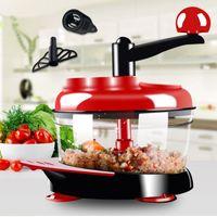 500ml-1.5L High-capacity Multi-function Kitchen Manual Food Processor Meat Grinder Vegetable Chopper Shredder Cutter Egg Blender 210326