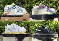 2021 Désactivé Authentique 1 de Dunk 50 The 20 30 40 Chaussures Futura Hommes Femmes Sneakers en plein air Entraîneurs avec une boîte originale US7-13