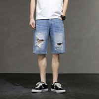 jeans Men's baggy jeans shorts summer thin breeches