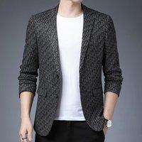 Men's Suits & Blazers Brand Suit Jacket 2021 Men Fashion Business Casual Cotton High Quality Wedding Dress Plus Size S-5XL Male