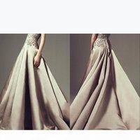 Floor Length High Neck Saudi Arab Ashi Studio Formal Evening Dresses 2019 Beaded Lace Appliqued Long Formal Prom Gowns BA6648
