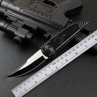 High hardness Black Outdoor Folding Knife Aluminium Handle Blades 9CR13 Hiking Camping Fruit Pocket EDC Hunting Self-defense Basic Tool Knives