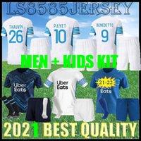 Kids Kit Olympique de Marseille Soccer Jersey 2021 2022 om Marseille de Mailleot Payet Foot Payet Thauvin Benedetto Jerseys 20 21 22 Marseille Milik Adult Football Shirts
