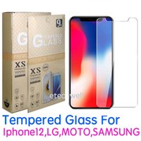 10 adet / grup Temperli Cam Ekran Koruyucu Film iphone 13 12 LG Stylus 5g Samsung A22S A3 Çekirdek F22 A03S Huawei P40 0.33mm Bireysel Paket