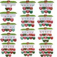 DHL Free NewStyle Personalisierte Familie Weihnachtsbaum Ornament Anhänger Mini Weihnachtsstocking Hängende Anhänger YT199505