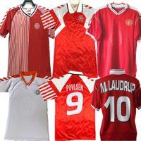 1986 Denmark World Retro World Cup لعبة كرة القدم 86 91 المنتخب الدنمارك الوطني مايكل لودروب Elkjaer Berggreen Olsen خمر قميص كلاسيك لكرة القدم 1992 1998