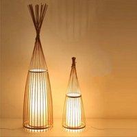 Lampes de table Lampe de technologie de tissage en bambou pour salon chambre à coucher à côté de thé café maison de fusée de fusée LED éclairage de conception