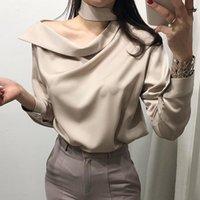 Blouses Femmes Chemises Vanovity Style coréen Femmes 2022 Automne Sauvage Casual Fashion Dames Couleur Solide Manches Longues Vêtements