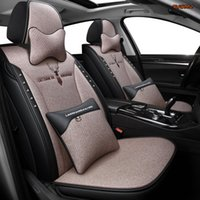 Car Seat Covers KAHOOL Flax For Mitsubishi Pajero Sport Lancer Asx 2011 Outlander L200 Colt Protector Cover Cars