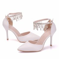 Sandals Bride shoes crystal queen, women's free with rhinestones for women... sexy high heels wedding at night. SSVR