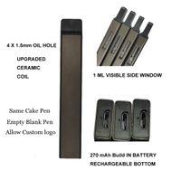 Индивидуальная дельта 8 одноразовые ручки сигареты перезаряжаемые 270 мАч батарея 1.0ML пустой Vape POD система OEM пользовательских производителей упаковки