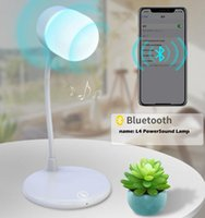 Table Lamps Indoor Night Light Bluetooth Speaker Wireless Charging 3 In 1 Book Reading Lamp Touch Control Adjustable Led USB Powered