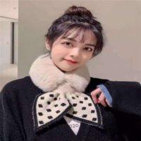 XGZ sonbahar ve bağları Wintercravat Kore çok yönlü yaka örme kadın taklit tavşan saç peluş küçük eşarp moda eşarp yün yün wa