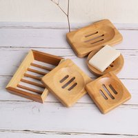 Natural Bamboo Soap Dishes Handmade Simple Bathroom Non Slip Tray Storage Box 4 Styles Household Products