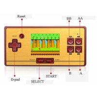 Портативные игроки игроков Классический портативный игрок для кармана FC с AV кабельные TV-Out Games RS-20 Console Kids