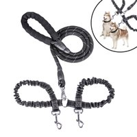Reflective Dog Leash Long Retractable Double Leash With Comfortable Padded Foam Handle Outdoor Running Lead Leash For Large Dog Collars & Le