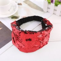 DIY Fish Scale Sequin Paillette Headband Elastic Hair Bands Wrap for Women Children Fashion Jewelry Will and Sandy