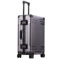 Top Quality 100% in alluminio magnesio viaggio bagaglio da viaggio 20/24/28 pollici carrello di marca valigia spinner imbarco valigie rotolanti